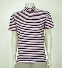 Polo Ralph Lauren Pink Striped Pocket Cotton Polo Shirt Mens Small