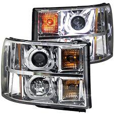 Anzo 111283 Chrome U-Bar Projector Headlights for 2007-2013 GMC Sierra 1500