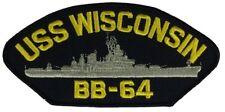 USS WISCONSIN BB-64 PATCH USN NAVY SHIP IOWA CLASS BATTLESHIP WISKY