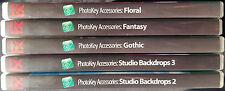 FX PhotoKey Accessories-Studio Back Drop Lot-5 Data DVD's-Gothic-Floral-Fantasy