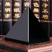 Natural Obsidian Pyramid Crystal Reiki Energy Healing Mineral Stone Specimen