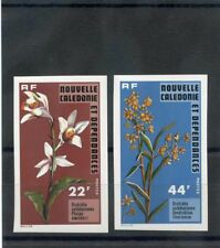 NEW CALEDONIA Sc 425-6(YT 409a-10a)**VF NH 1977 FLOWERS, IMPERF,  $50