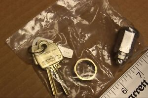 Medeco cam lock w/ 2 keys and key security code tag new in a plastic bag