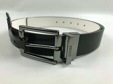 New Men's Guess Leather Belt Size 36 Reversible Black White 36153