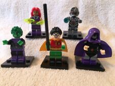 Set Of 5 Teen Titans Go Mini Figures-Brand New Assembled W/Stands-Some W/Access