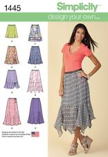 Simplicity Sewing Pattern 1445 Misses 8-16 Easy Design your Own Skirt Length Var