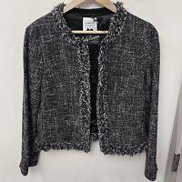 Edward Achour Tweed Boucle Blazer Jacket 44 8 Medium M 10 Large L $2K+ FARFETCH