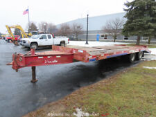 New ListingEager Beaver 19' T/A Equipment Trailer Flatbed Ramps Air Brakes bidadoo