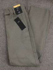 MARKS & SPENCER WOMENS LIGHT KHAKI GREEN CROPPED TROUSERS, Size 6, Bnwt