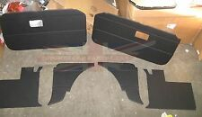 New 6 Piece Interior Panel Set with Door Panels for MGB GT 1968 1969 Black