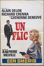 Affiche Belge UN FLIC Jean-Pierre Melville ALAIN DELON Catherine Deneuve