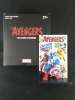 The Avengers 3d Comic Standee Captain America Marvel Loot Crate NEW Comic #4