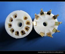 100pcs 9pin Gold plated ceramic PCB tube socket for 12AX7 12AU7 6BQ5 ECC88 6N3