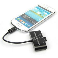 Memory Card Reader USB HUB Micro SD MMC TF Connection Adapter Fr OTG Smart Phone