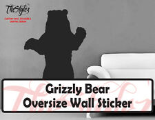Grizzly Bear Oversize Wall Vinyl Sticker