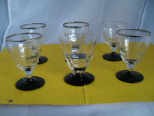 6 x Kelchglas - Art Deco - Frankreich - 1930er Jahre -