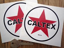 """Caltex Gasolina Con Estilo adhesivos para coches 4 """"par gas combustible petrolania Bomba De Bicicleta"""