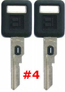2 NEW GM Single Sided VATS Ignition Key #4 UNCUT V.A.T.S B62-P4
