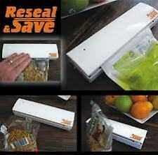 Reseal and Save Bag Sealer Portable Handy Plastic Food Saver Storage bag sealing