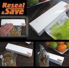 Reseal and Save Bag Sealer Portable Handy Plastic Food Saver Storage bag sealing