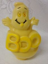 Vintage Halloween Hard Plastic Spooky Boo Ghost Candy Containers Ornament Rare