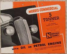 MORRIS 5 Ton Truck EXPORT Sales Brochure 1948 #NEL88