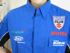 Suzuki GSX R Racing Team Clothing, Teamhemd, Shirt Embroidered, Size M Blue