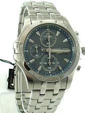 SEIKO Men SNDC97 Chronograph Le Grand Sport S/ Steel Bracelet  Blue Dial SRP$375
