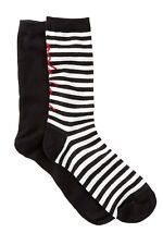 Kate Spade Womens Trouser Socks One Size Black White