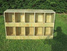 casier a pigeon 10 compartiment block en bois