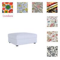 Custom Made Cover Fits IKEA Kivik Ottoman, Footstool Cover, Patterned fabrics