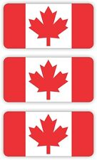 (3) Canadian Flag Hard Hat Stickers || Helmet Decals Labels || Canada Maple Leaf