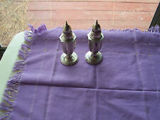 "VINTAGE STERLING SILVER SALT & PEPPER SHAKERS- 5"" TALL- MARKED <M> S.S 067"