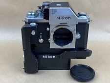 Nikon F Apollo Vintage Chrome 1973 film camera w/ F36 & Battery Pack Clean &Rare