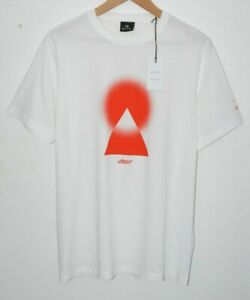 PAUL SMITH + CHEMICAL BROTHERS white red Tshirt T-shirt Mount Fuji Japan LARGE
