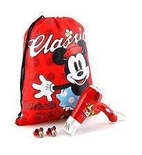 Disney Minnie Mouse Travel 1200W Hair Dryer Set Kids Girls Gift Bundle with Bag