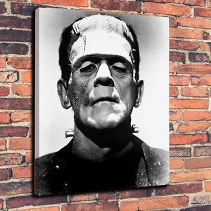 """Classic Horror Frankenstein Monster Box Canvas A1.30""""x20"""" 30mm Deep - Halloween"""
