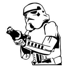 Star Wars Stormtrooper vinyl car Decal / Sticker
