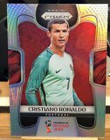 2018 PANINI PRIZM WORLD CUP SOCCER SILVER REFRACTOR Cristiano Ronaldo #154  🔥