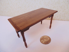 Dollhouse Miniatures 1:24  Walnut Table -  Artist Made Furniture