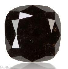 2.0 ct natural black Diamond Cushion cut Loose Diamond, Diamond Wedding ring 00