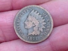 1871 AMERICAN USA COPPER ONE CENT COIN INDIAN HEAD RARE KEY DATE NO RESERVE!!