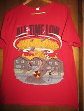 All Time Low- Nuclear Explosion Tour Lic- Red T-Shirt- Large