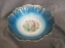 C1 Royal Saxe Germany Handpainted Centerpiece Bowl Dancing Goddesses w/ Cherub