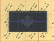 PVC CANADA FLAG Morale PATCH CANADIAN MAPLE SWAT POLICE THIN BLUE LINE TBL 3