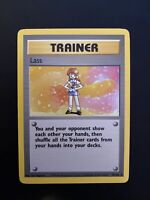 LASS SHADOWLESS POKEMON TRAINER CARD 75/102 BASE NON HOLO LP -NM MINT