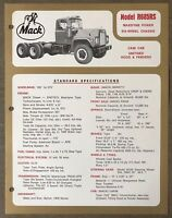 1972 Mack R685RS original Australian sales brochure