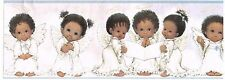 BABY TODDLER HALO ANGELS WITH WINGS BLUE EDGES Wallpaper bordeR Wall