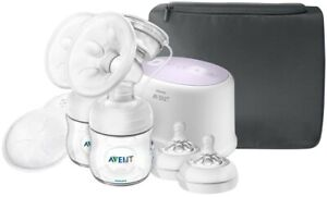 NEW Philips AVENT Double Electric Comfort Breast Pump SCF334/22 Factory Sealed