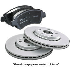 Genuine Delphi Coated Ford Fiesta Ecoboost TDCi Sport Front Discs and Pads Kit